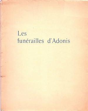 Les funérailles d'Adonis *: DARAGNÈS] JOUHANDEAU Marcel :