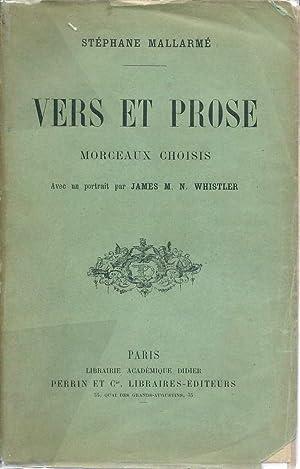 Vers et prose *: MALLARMÉ Stéphane :