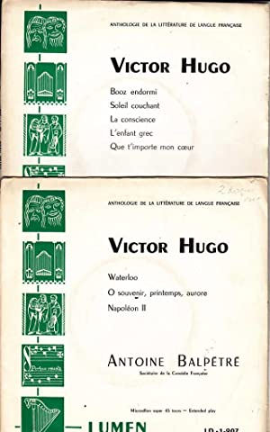 Victor Hugo *: HUGO Victor] BALPETRE Antoine :