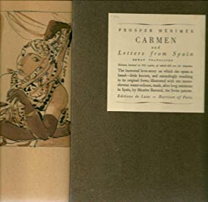 Carmen and letters from Spain *: MÉRIMÉE Prosper :