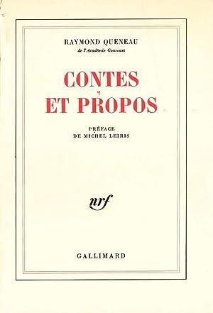 Contes et propos *: QUENEAU Raymond :