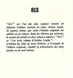813 *: LEBLANC Maurice :