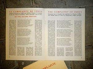 La complainte de Vénus *: CINGRIA Charles-Albert] Othon de Grandson Sire :