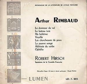 Arthur Rimbaud *: RIMBAUD Arthur] HIRSCH Robert :