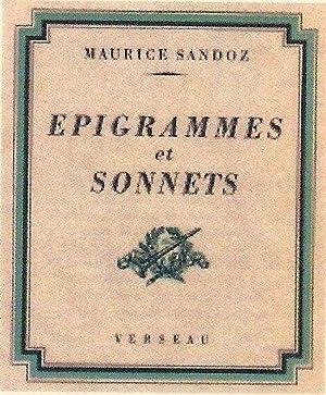 Épigrammes et sonnets *: SANDOZ Maurice :