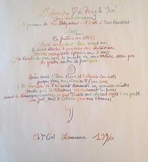 5 gravures pour L'Arrache-coeur *: VIAN Boris] GINDRAT