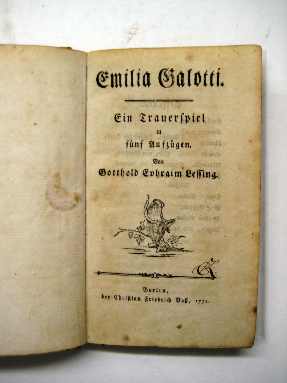 Emilia Galotti Ein Von Lessing Erstausgabe ZVAB