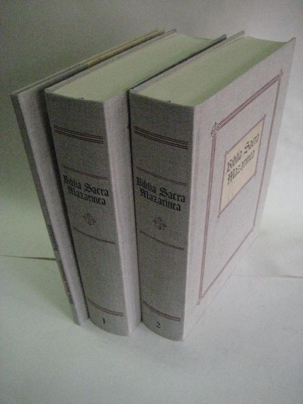 Biblia Sacra Mazarinea. Faksimile der Gutenberg-Bibel, Exemplar der Bibl. Mazarine Paris. 2 Bde. u....