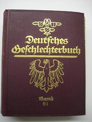 Ostpreußisches Geschlechterbuch. Hrsg. von B. Koerner u. K. Tiesler. Bd. 1 (1928).