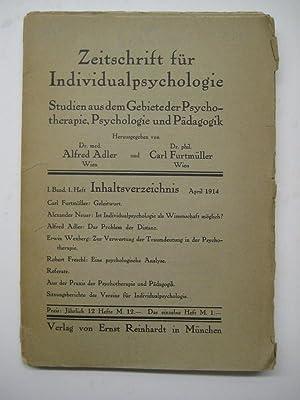 Zeitschrift für Individualpsychologie. Studien aus dem Gebiete der Psychotherapie, Psychologie...
