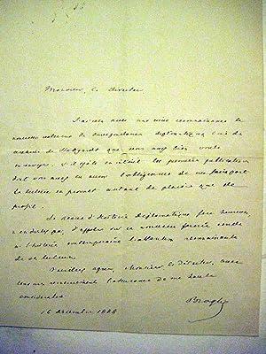 Staatsmann, Publizist. Seit 1862 Mitglied der Académie francaise. (1821-1901). Eigenhä...