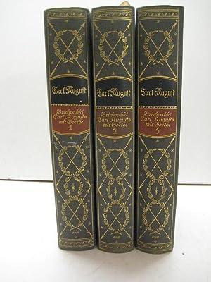 Briefwechsel des Herzogs-Großherzogs Carl August mit Goethe. Hrsg. v. H. Wahl. 3 Bde.: Goethe...