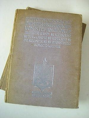 Zeitgenössische Dichter. Übertragen von S. George. 2 Bde.: George, Stefan.