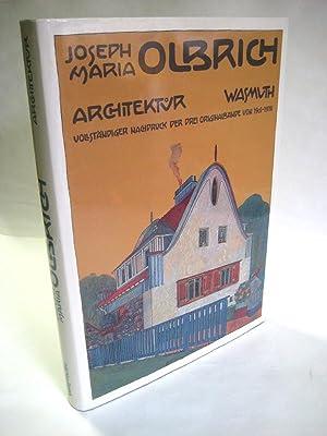 Architektur. Mit Textbeitr. von P. Haiko u. B. Krimmel u. Werkkatalog von R. Ulmer. Vollst. ...