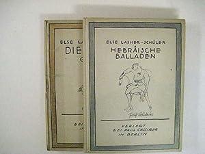 Gedichte. 2 Bde. (1: Hebräische Balladen; 2: Die Kuppel).: Lasker-Schüler, Else.