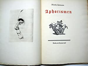 Aphorismen.: Heimann, Moritz.