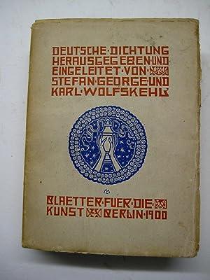 Deutsche Dichtung. 3 Bde. (=Alles).: George, Stefan u. Karl Wolfskehl (Hrsg. u. Einl.)