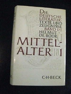 Die deutsche Literatur. Texte und Zeugnisse. Hrsg. von H. de Boor, W. Killy, B. v. Wiese u. a. 7 ...