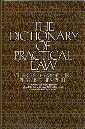 The Dictionary of Practical Law