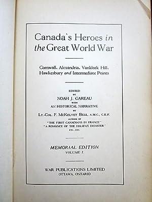 CANADA'S HEROES IN THE GREAT WORLD WAR.: Gareau, Noah J.