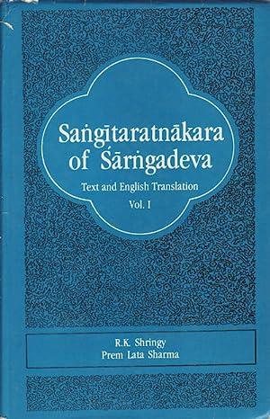 Sangitaratnakara of Sarngadeva.: SHRINGY, R.K. AND