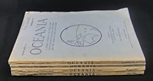 Oceania. Vol XXXIX. Numbers 1 to 4