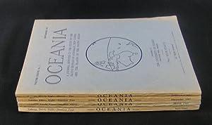 Oceania. Vol XXXVIII. Numbers 1 to 4