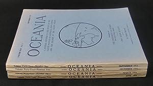 Oceania. Vol XLIV. Numbers 1 to 4