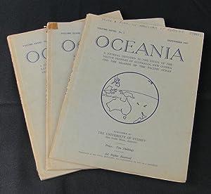 Oceania. Vol XXVIII. Numbers 1, 2 and