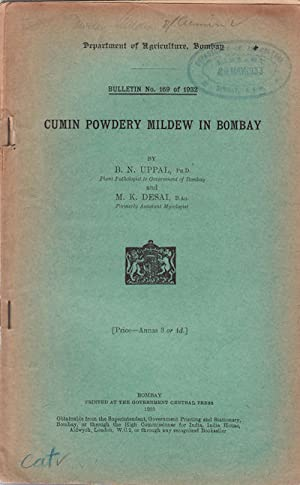Cumin Powdery Mildew in Bombay.: UPPAL, B.N. AND