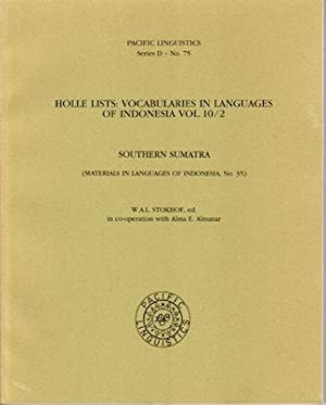 Holle Lists: Vocabularies in Languages of Indonesia Vol. 10/2. Southern Sumatra.