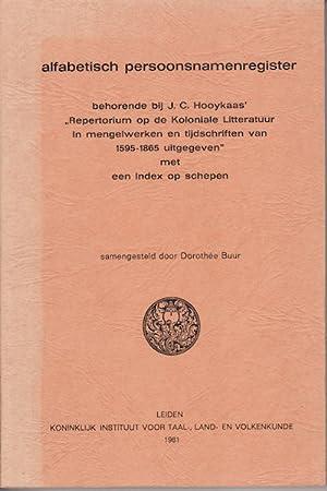 Alfabetisch persoonsnamenregister behorende bij J.C. Hooykaas' Repertorium: BUUR, D.