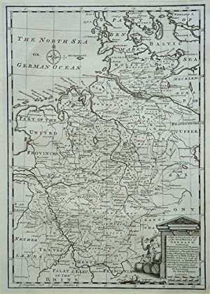 A New & Accurate Map of the North-West Part of Germany, containing Westphalia & Low. Saxony where...