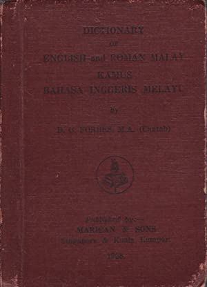 Dictionary of English and Roman Malay. Kamus: FORBES, D. C.