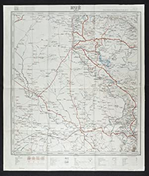 Hue - Ouest. French Map of Indochina. Carte Routiere de l'Indochine Feiulle No. 7.