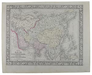 Map of Asia Showing its Gt. Political Divisions, and, also, the various Routes of Travel, between...