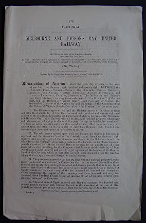 Melbourne and Hobson's Bay United Railway: LEGISLATIVE ASSEMBLY