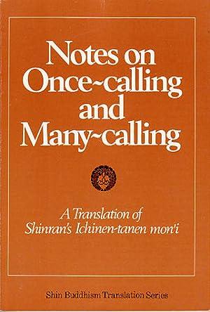 Notes on Once-calling and Many-calling. A Translation: UEDA, YOSHIFUMI (ED)