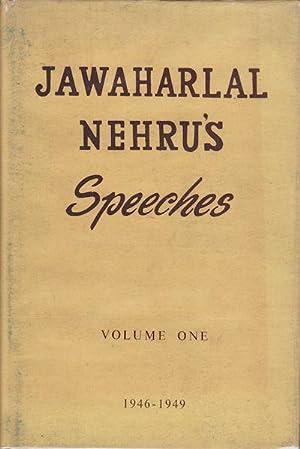 Jawaharlal Nehru's Speeches. Volume One.: NEHRU, JAWAHARLAL.