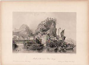 Mouth of the river Chin-keang. Changjiang, [China Antique Print].: ALLOM, THOMAS.