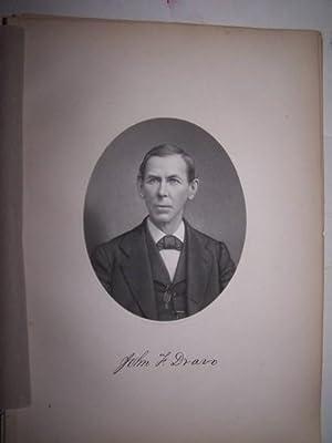JOHN F. DRAVO [Steel Engraved Portrait]: Cushing, Thomas