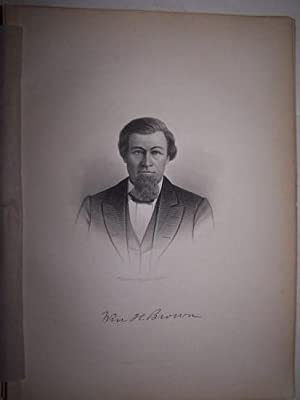 WILLIAM H. BROWN [Steel Engraved Portrait]