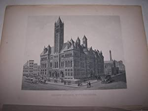 COURT HOUSE, PITTSBURGH [Steel Engraving]