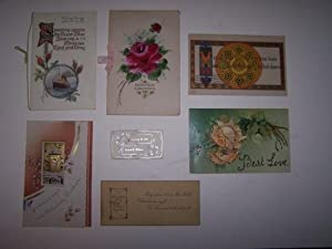 A lot of Seven Cards including: (1) HEARTIEST GREETINGS [ NEW YEAR'S CARD ]; (2) SPEEDING ACROSS ...