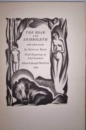 THE BOAR AND SHIBBOLETH With Other Poems