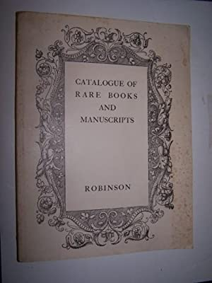 RARE BOOKS AND MANUSCRIPTS Catalogue 69