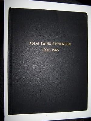 ADLAI EWING STEVENSON, 1900-1965: Kerner, Otto