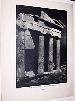 Moonlight Miraculously Restores the Propylaea [ Halftone Photographic Print ]