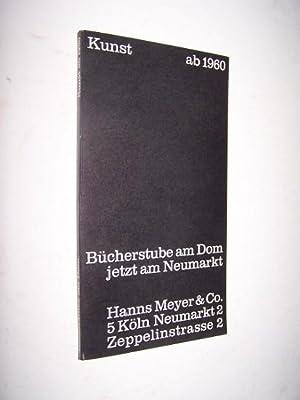 Kunst ab 1960 : Dokumente zur zeitgenössischen Kunst Buecher mit Originalgrafik, Monographien,...