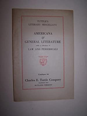 Catalogue 94 -- Americana & General Literature with a selection of Law and Periodicals